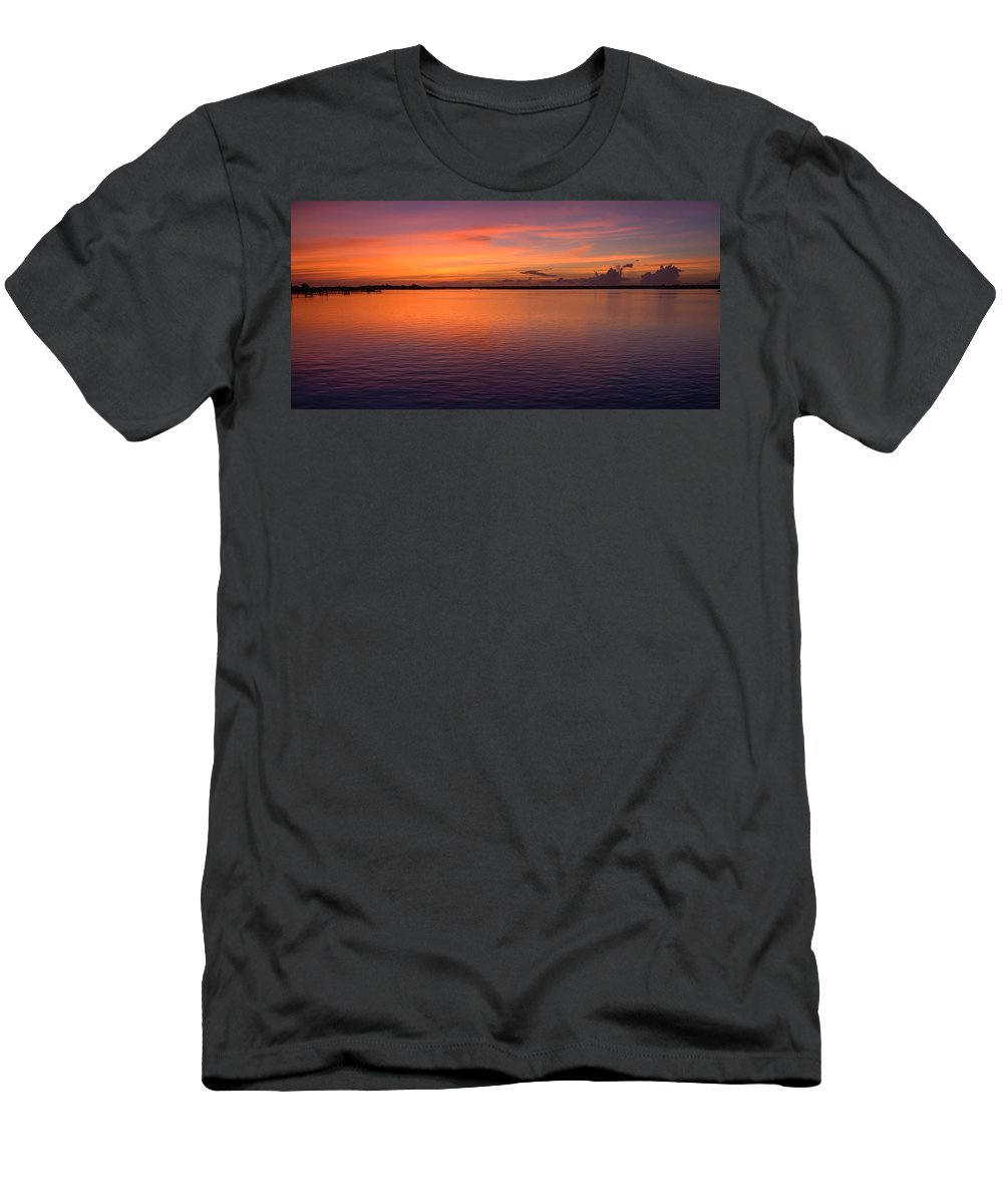 Carolina Colors Men's T-Shirt (Athletic Fit) featuring the photograph Colors Of Carolina by Karen Wiles