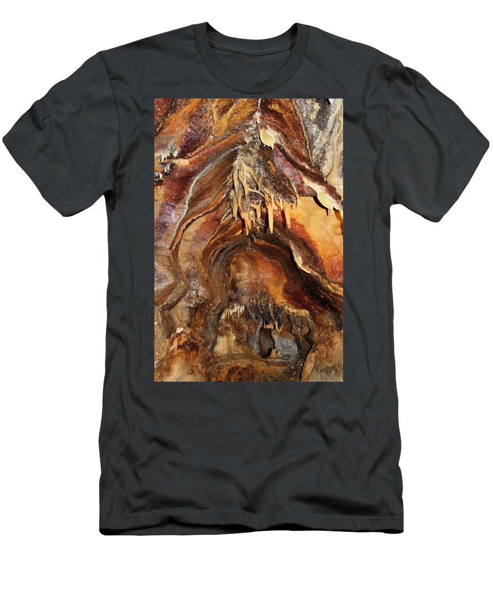 Colors Of The Ohio Caverns Men's T-Shirt (Athletic Fit) featuring the photograph Colors Of The Ohio Caverns by Dan Sproul