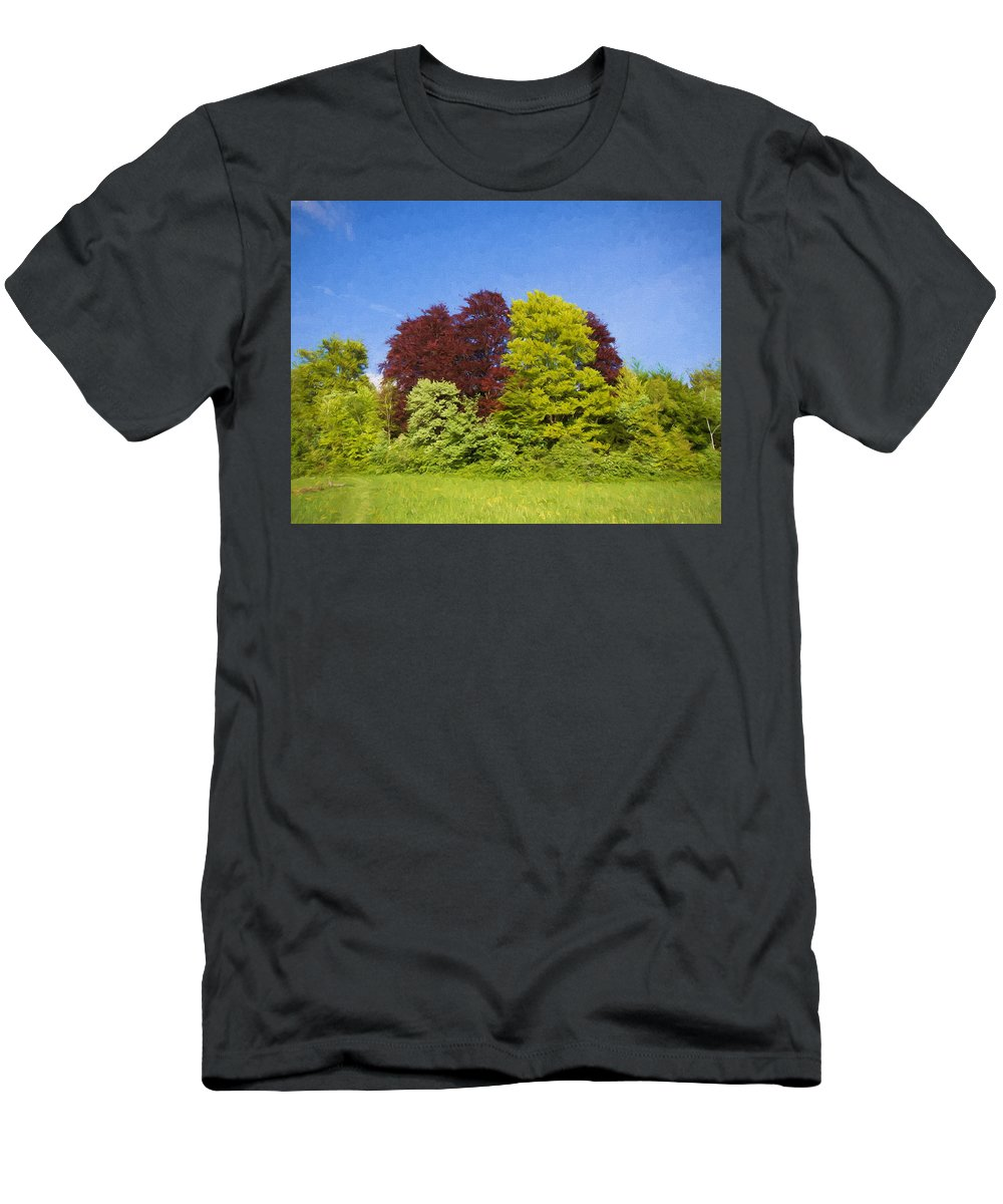 Beautiful Men's T-Shirt (Athletic Fit) featuring the digital art Colourful Trees by Roy Pedersen