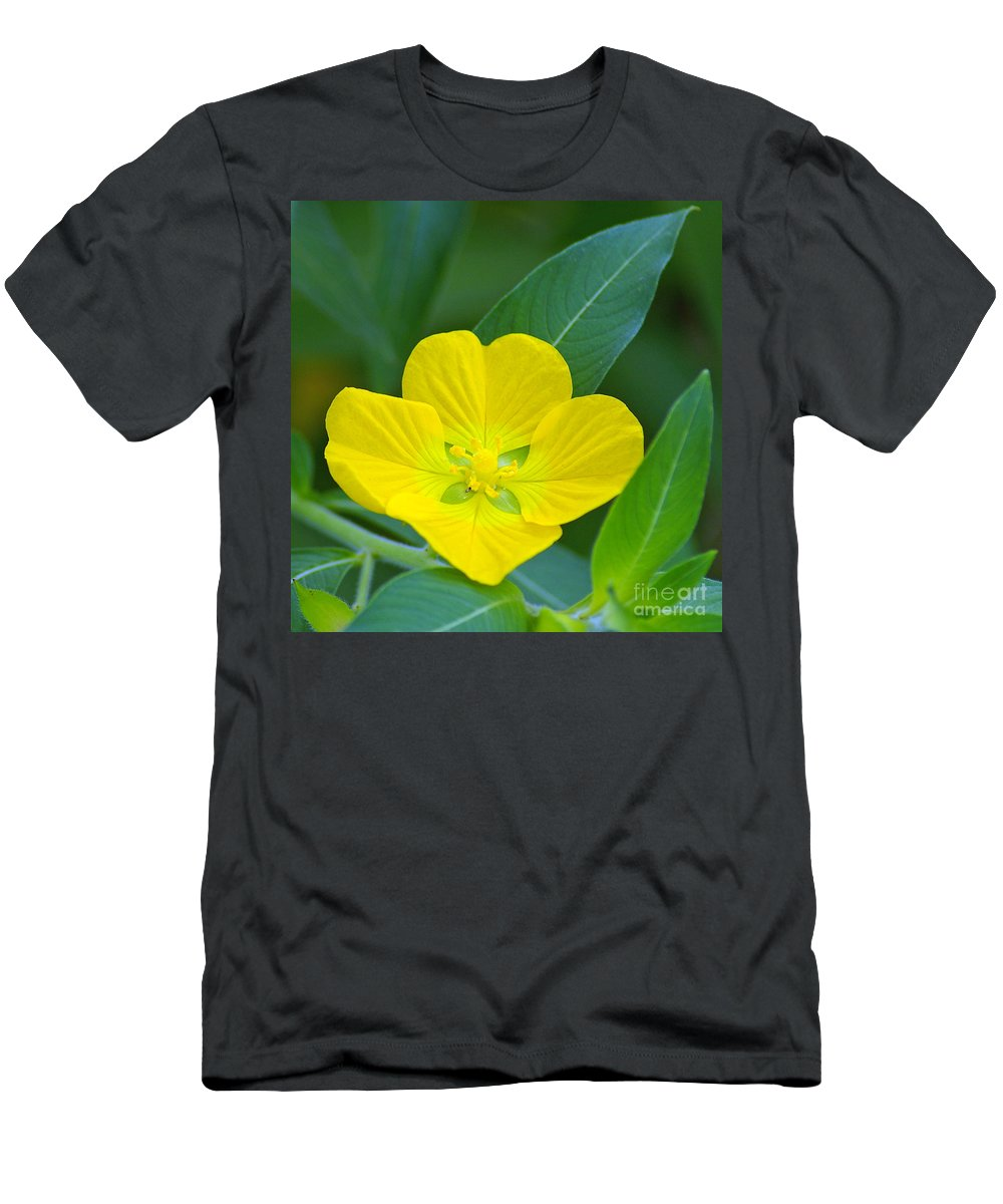 Primrose Men's T-Shirt (Athletic Fit) featuring the photograph Common Primrose Willow 1 by Nancy L Marshall