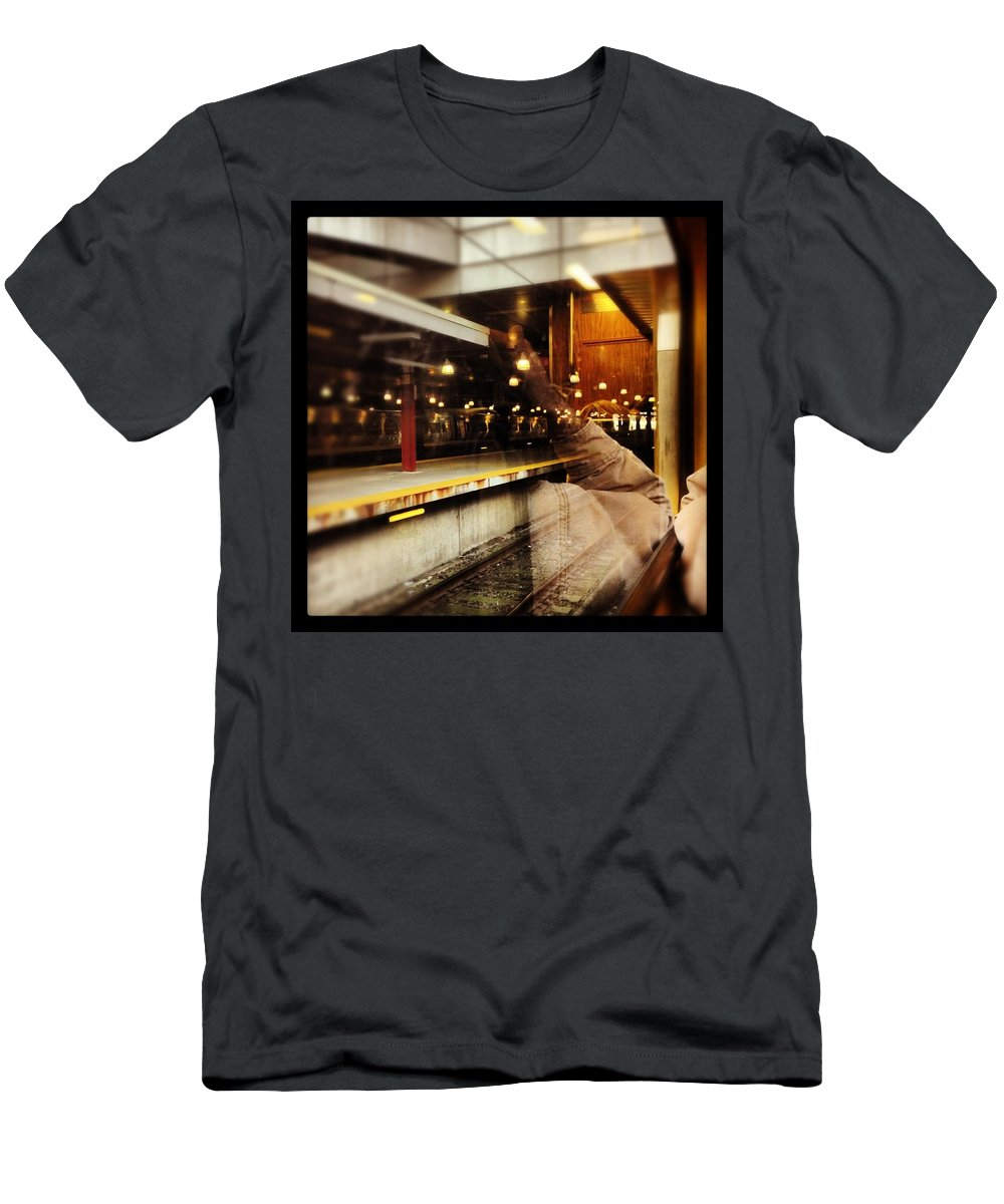 Men's T-Shirt (Athletic Fit) featuring the photograph Commuter Life by Mark Valentine