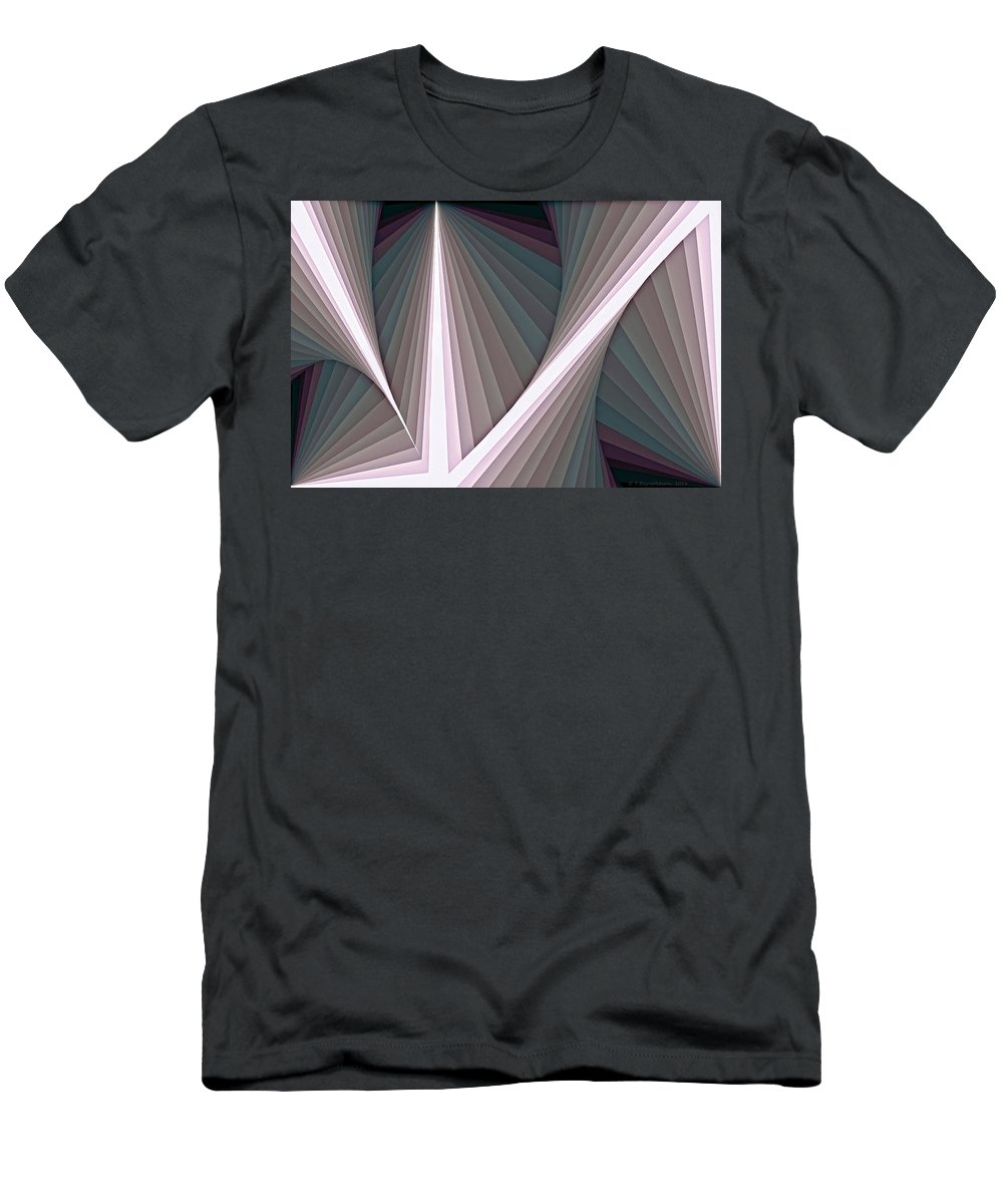 Tablet Men's T-Shirt (Athletic Fit) featuring the digital art Composition 128 by Terry Reynoldson