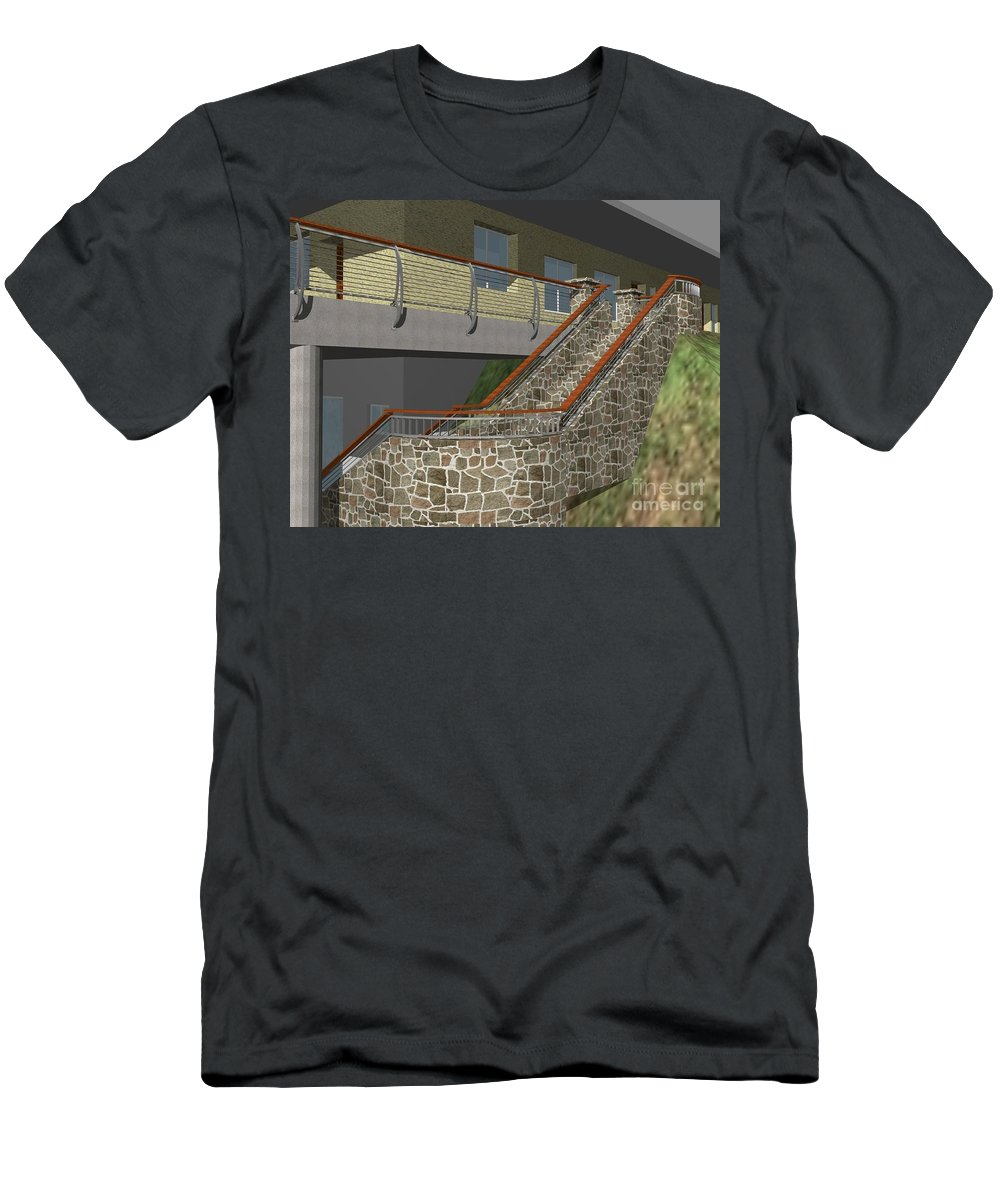 Men's T-Shirt (Athletic Fit) featuring the digital art Concept Railing by Peter Piatt
