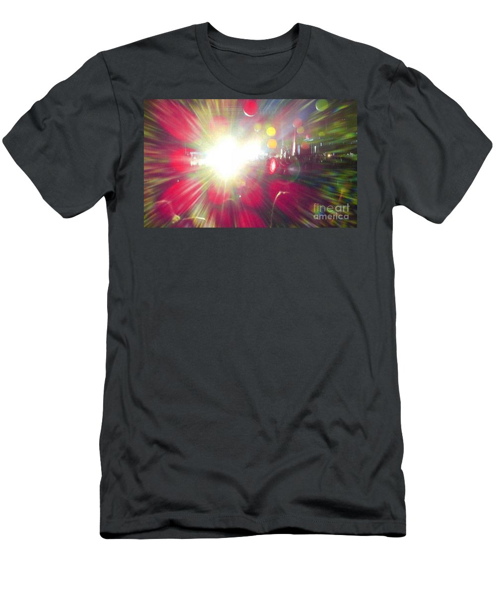 Music Men's T-Shirt (Athletic Fit) featuring the photograph Concert Lights by Alys Caviness-Gober