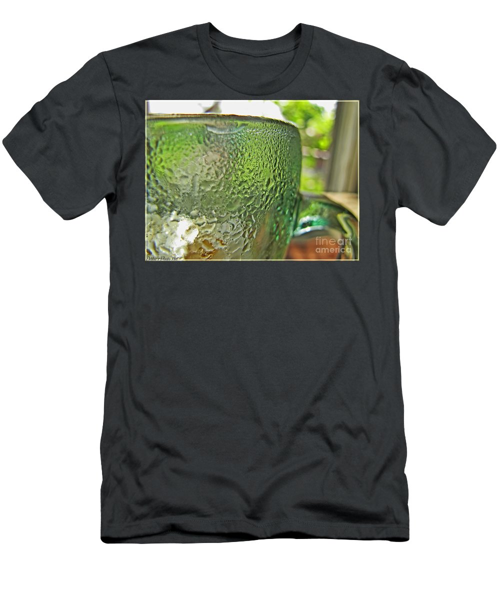 Still Life Men's T-Shirt (Athletic Fit) featuring the photograph Condensation by Debbie Portwood