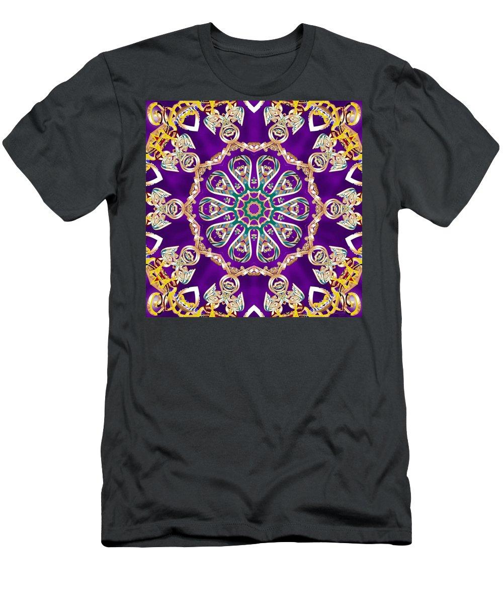 Sacredlife Mandalas Men's T-Shirt (Athletic Fit) featuring the digital art Conscious Carousel by Derek Gedney