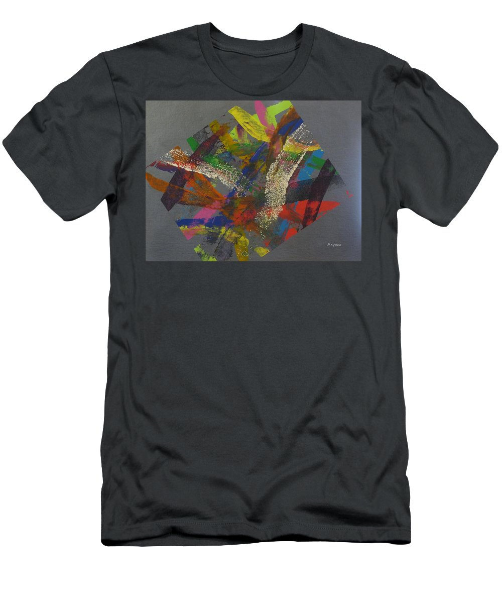 Abstract Men's T-Shirt (Athletic Fit) featuring the painting Controlled Chaos by David Mayeau