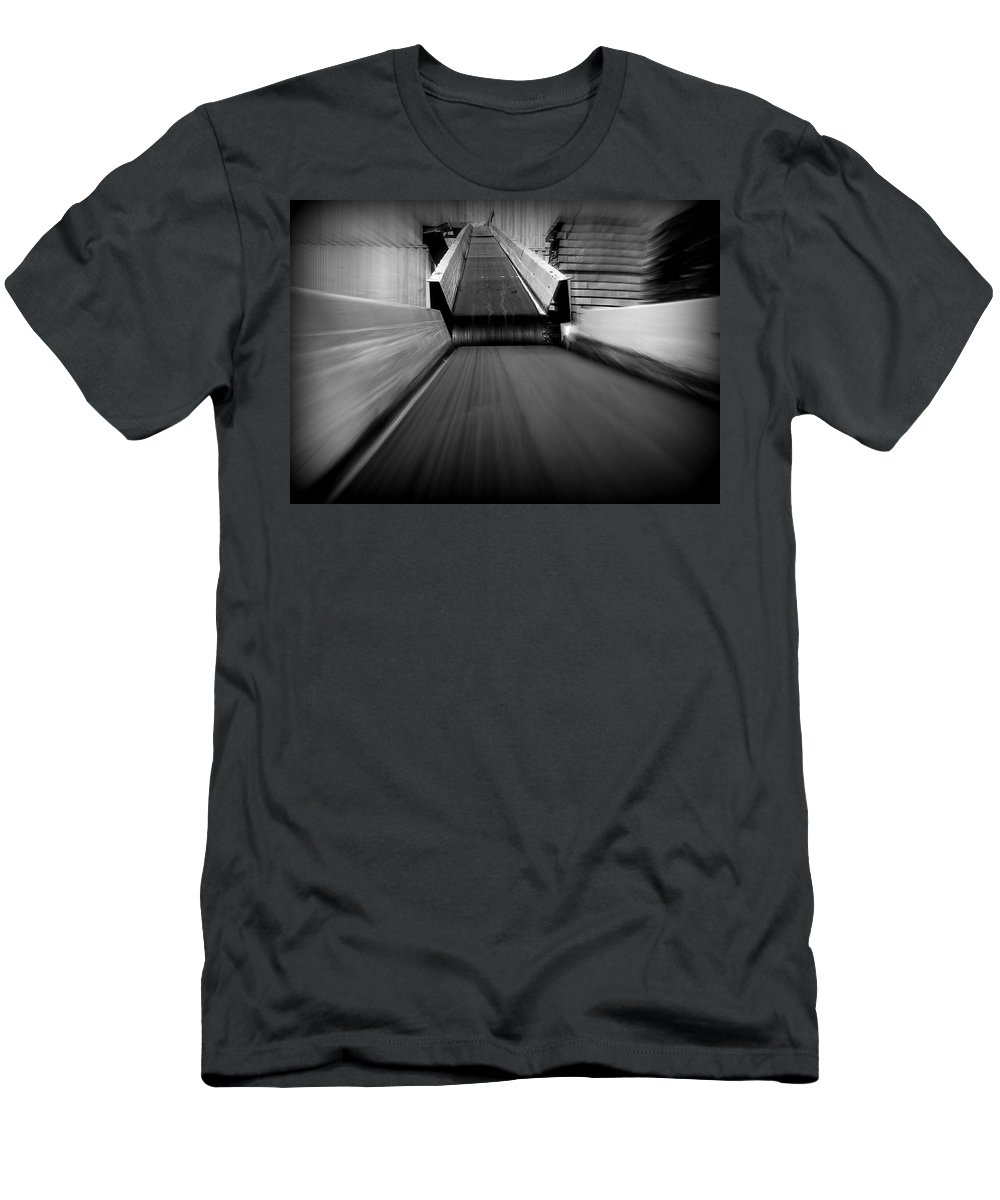 Hopper Men's T-Shirt (Athletic Fit) featuring the photograph Conveyor 2 by Guy Pettingell