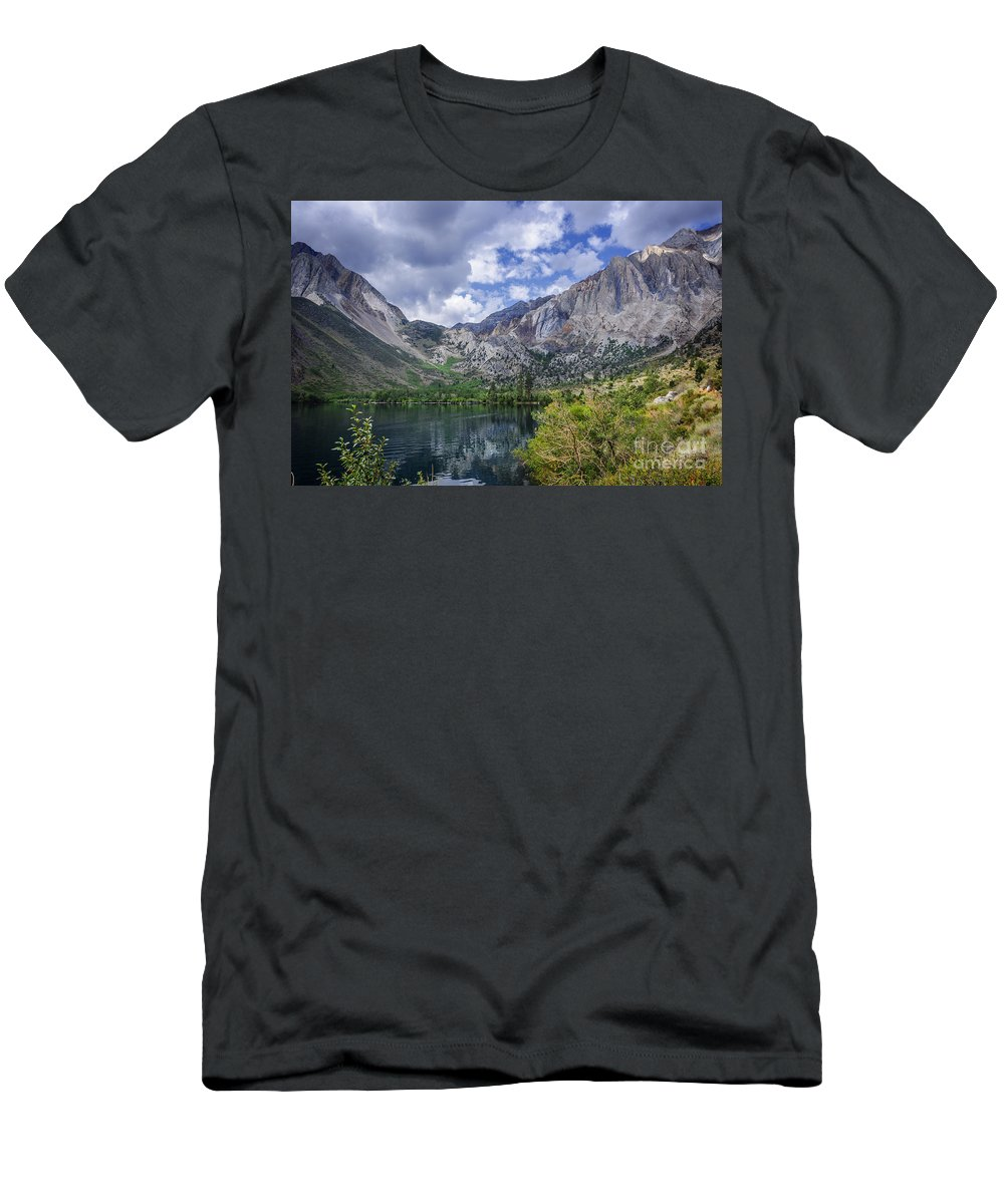 Lake Men's T-Shirt (Athletic Fit) featuring the photograph Convict Lake by Dianne Phelps