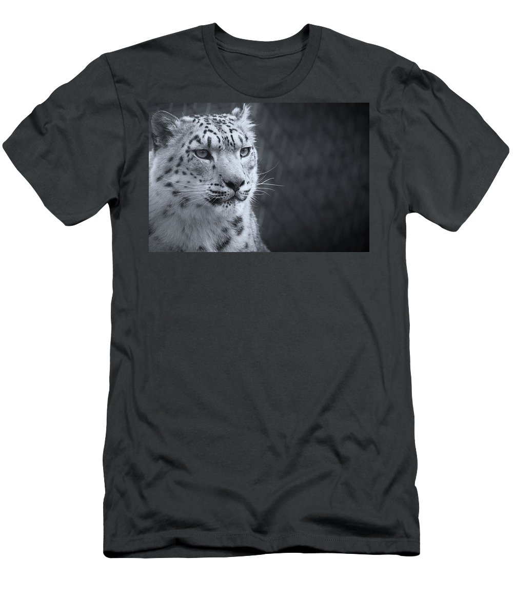 Marwell Men's T-Shirt (Athletic Fit) featuring the photograph Cool Leopard by Chris Boulton