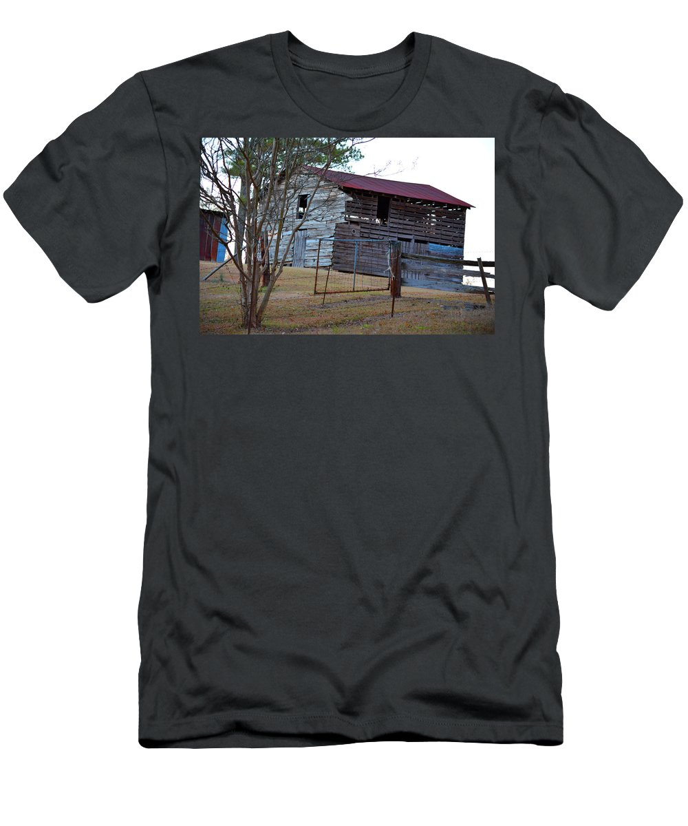 Red Men's T-Shirt (Athletic Fit) featuring the photograph Cool Nights by Barb Dalton