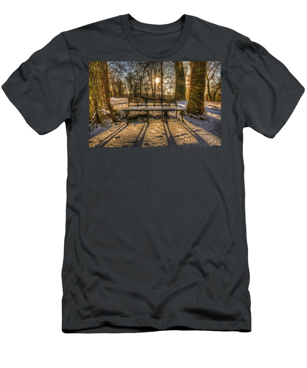Background Men's T-Shirt (Athletic Fit) featuring the digital art Coolest Seats by Nathan Wright