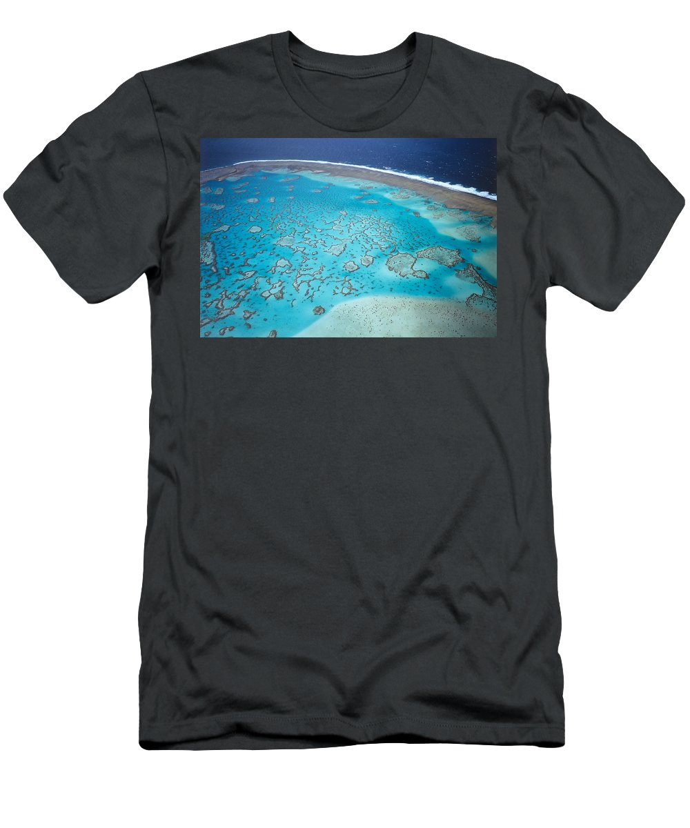 Feb0514 Men's T-Shirt (Athletic Fit) featuring the photograph Coral Reef Capricornia Cays Np by D. & E. Parer-Cook