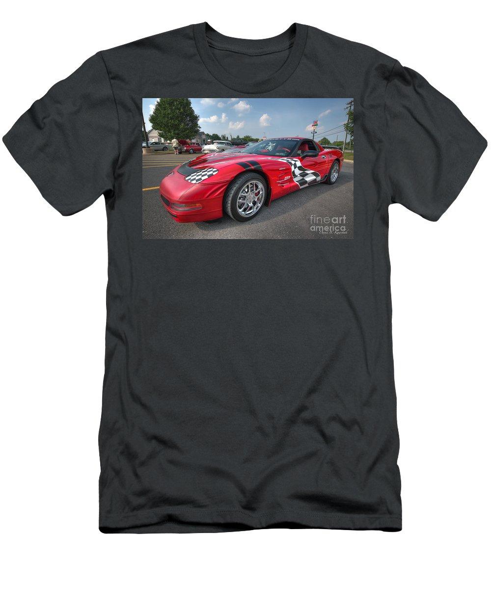 Corvette Men's T-Shirt (Athletic Fit) featuring the photograph Corvette by David B Kawchak Custom Classic Photography