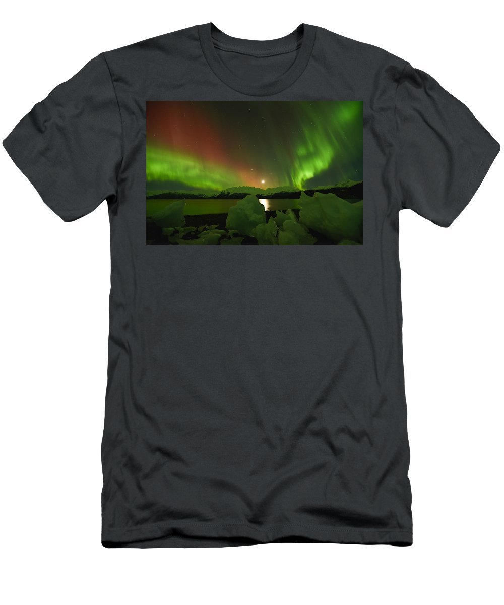 Aurora Men's T-Shirt (Athletic Fit) featuring the photograph Cosmic Thing by Ted Raynor