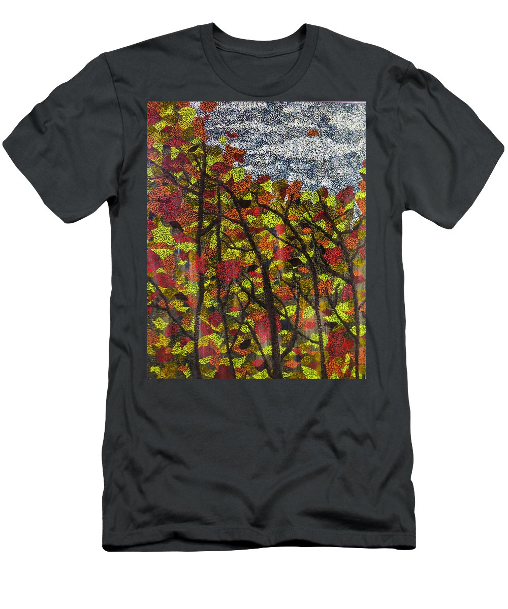 Autumn Men's T-Shirt (Athletic Fit) featuring the painting Country Colours by Joel Tesch