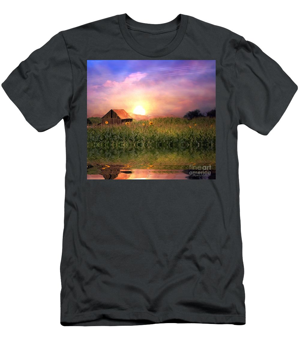 Barn Men's T-Shirt (Athletic Fit) featuring the photograph Country Paradise by Stephanie Laird
