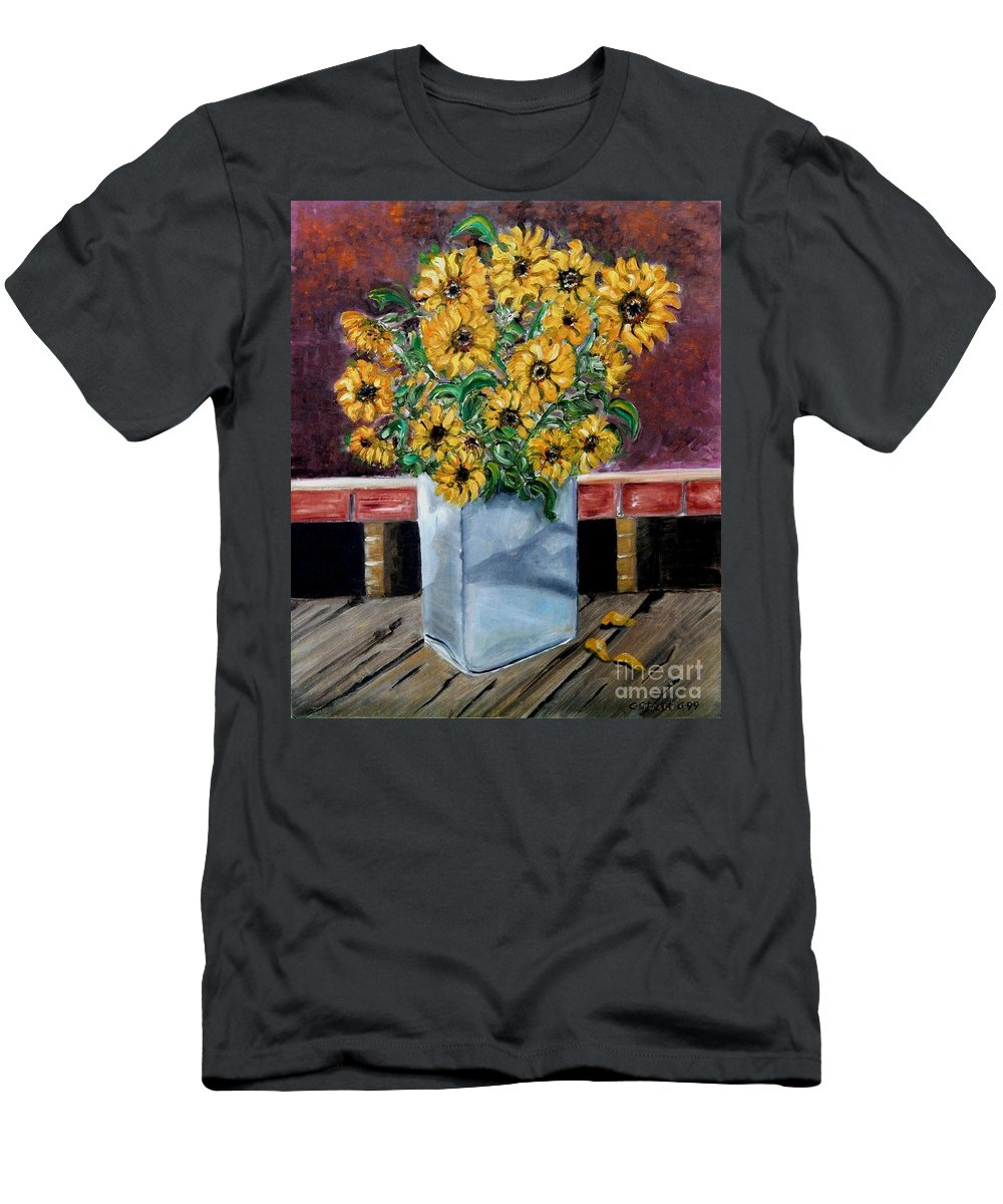 Still-life Men's T-Shirt (Athletic Fit) featuring the painting Country Still Life by Caroline Street