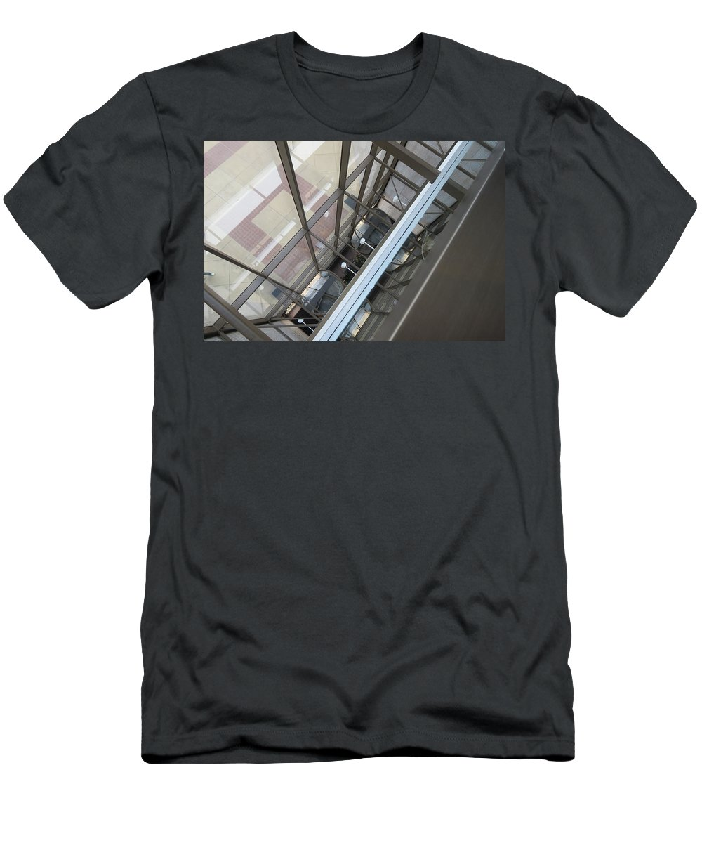 Buildings Men's T-Shirt (Athletic Fit) featuring the photograph Courthouse Arcitecture by Fortunate Findings Shirley Dickerson