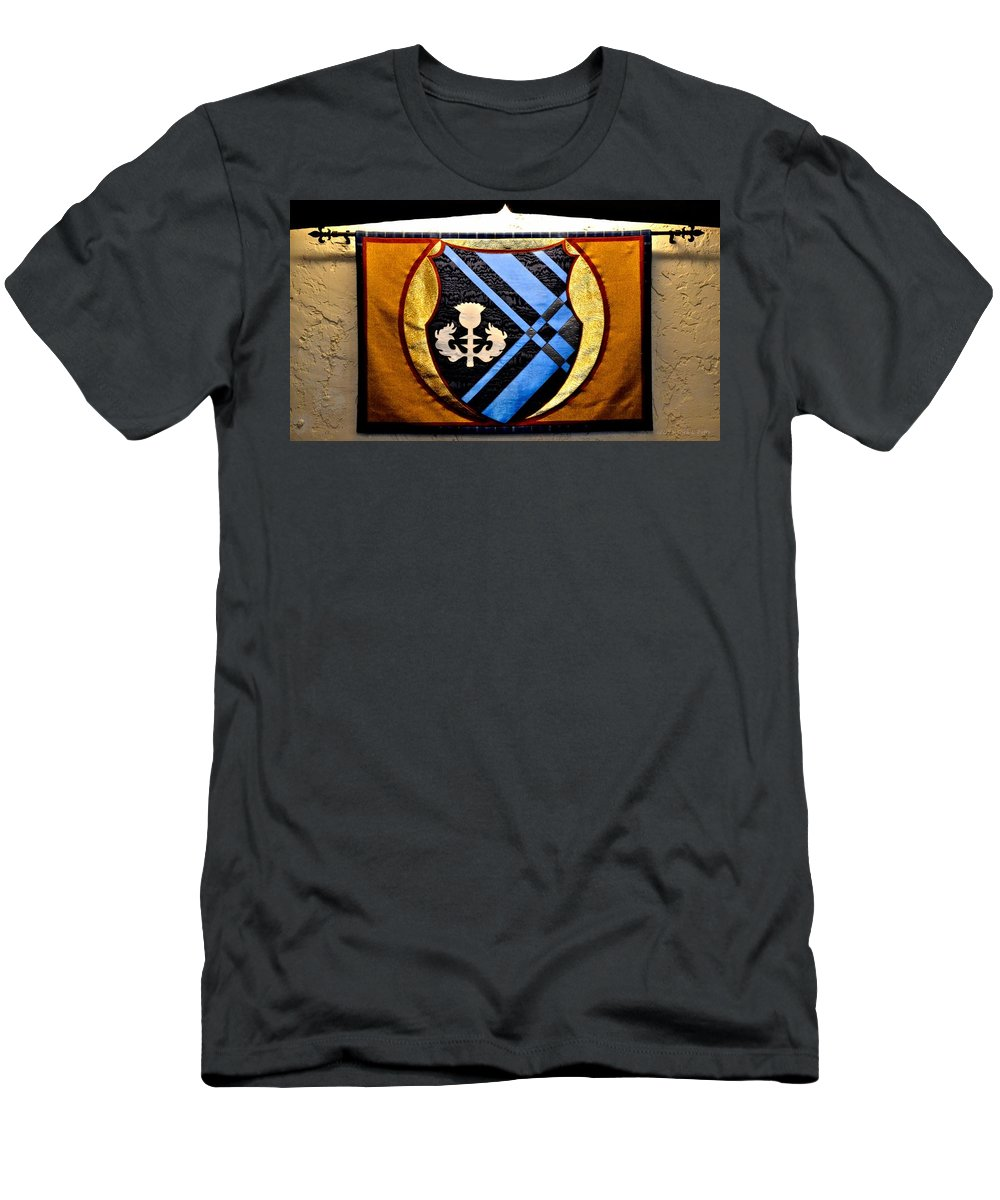 Covenant College Tartan Men's T-Shirt (Athletic Fit) featuring the photograph Covenant College Tartan by Tara Potts