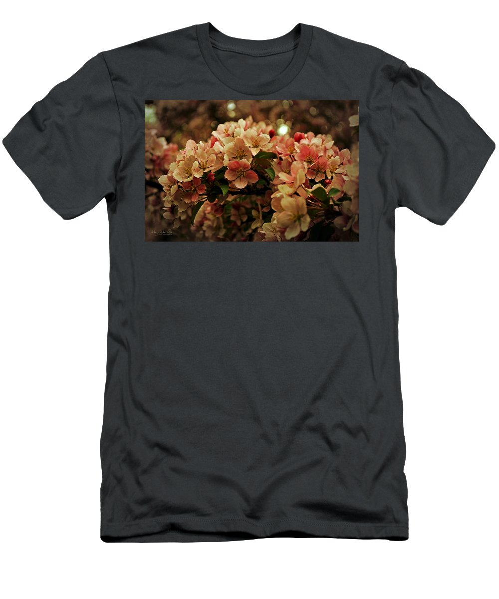 Crabapple In Bloom Men's T-Shirt (Athletic Fit) featuring the photograph Crabapple In Bloom by Mary Machare