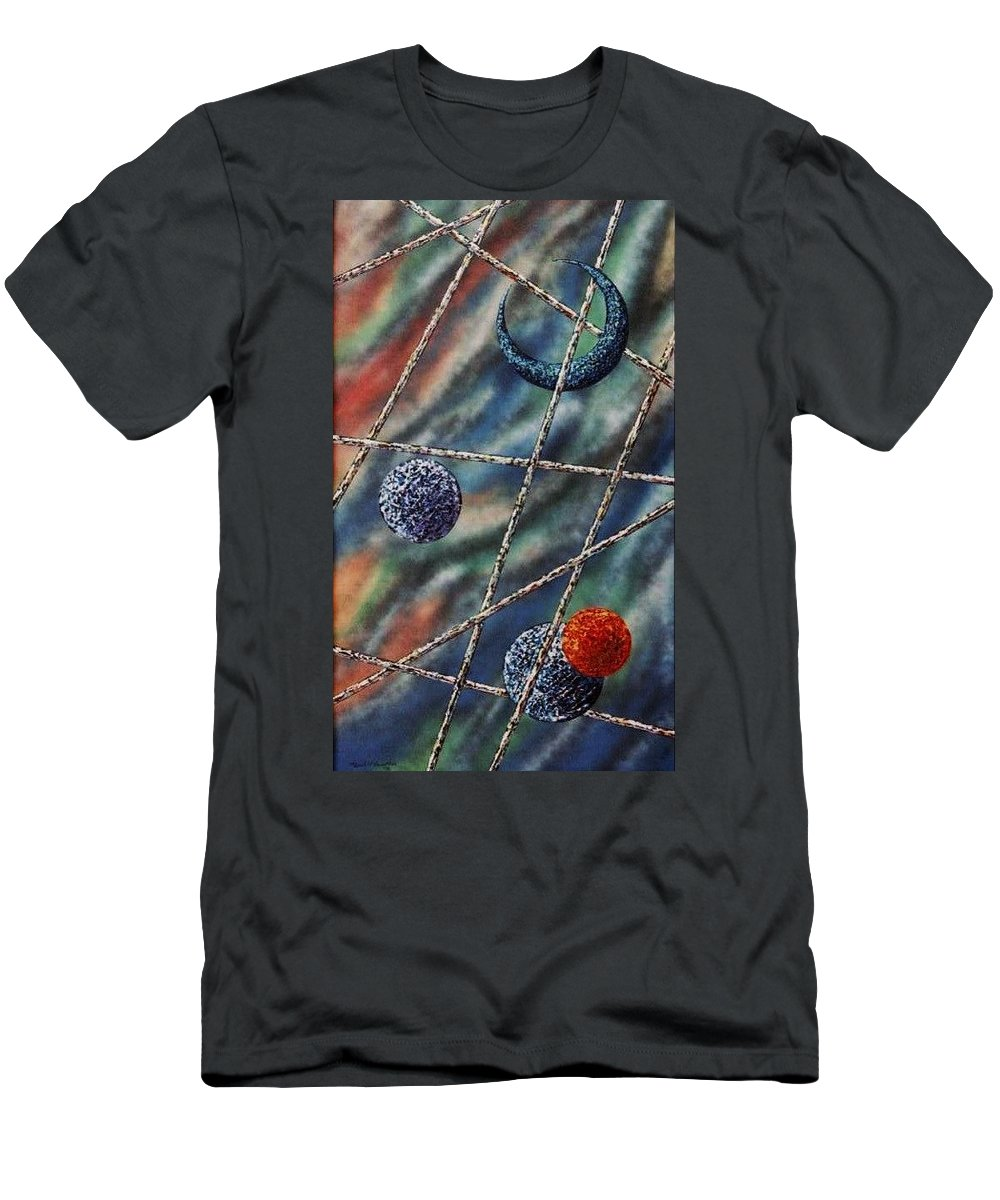 Abstract Men's T-Shirt (Athletic Fit) featuring the painting Crescent by Micah Guenther
