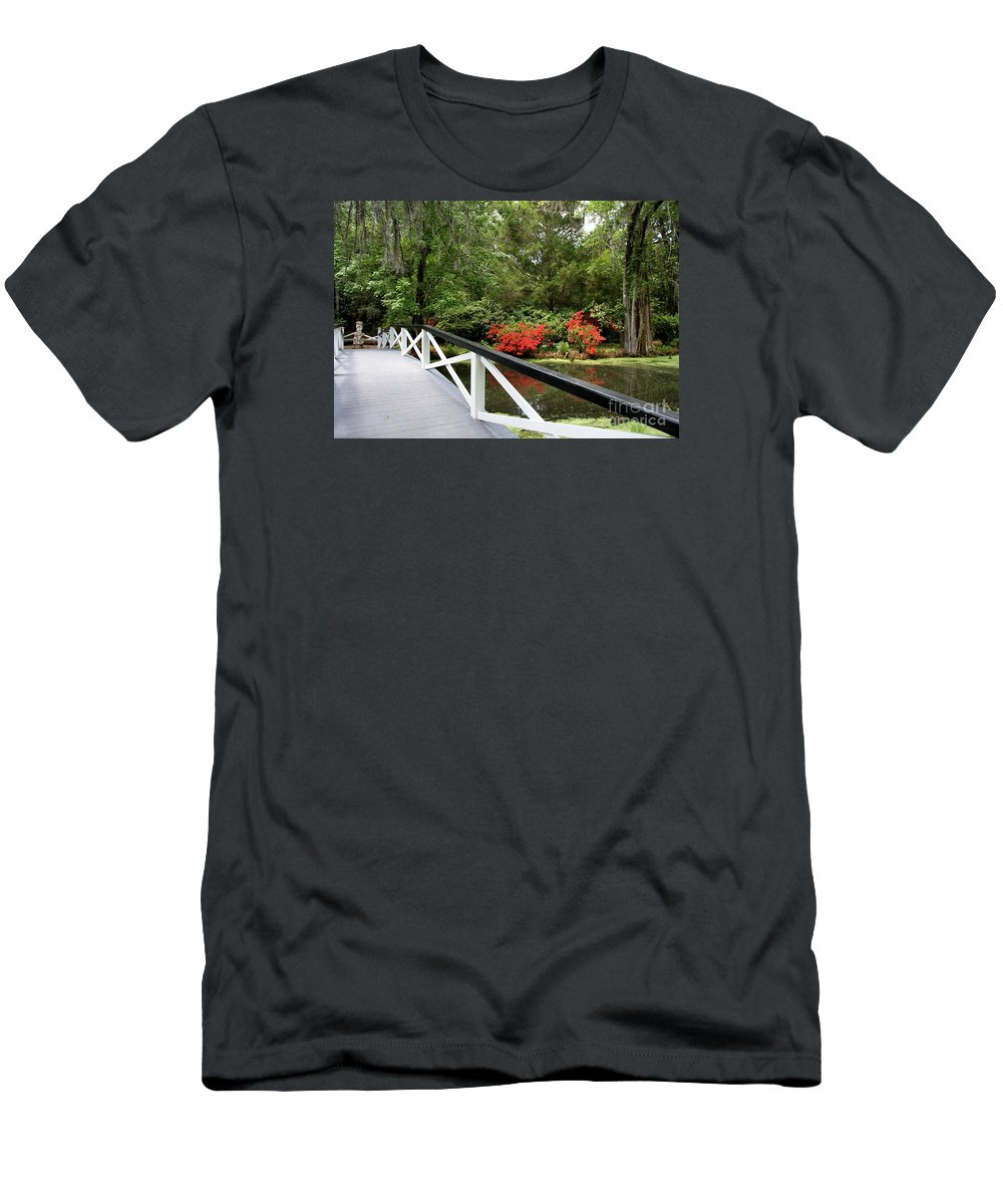 Swamp Men's T-Shirt (Athletic Fit) featuring the photograph Cross The Waters by Christiane Schulze Art And Photography