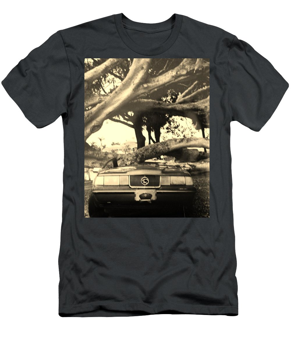 Cars T-Shirt featuring the photograph Crushed Merc by Rob Hans