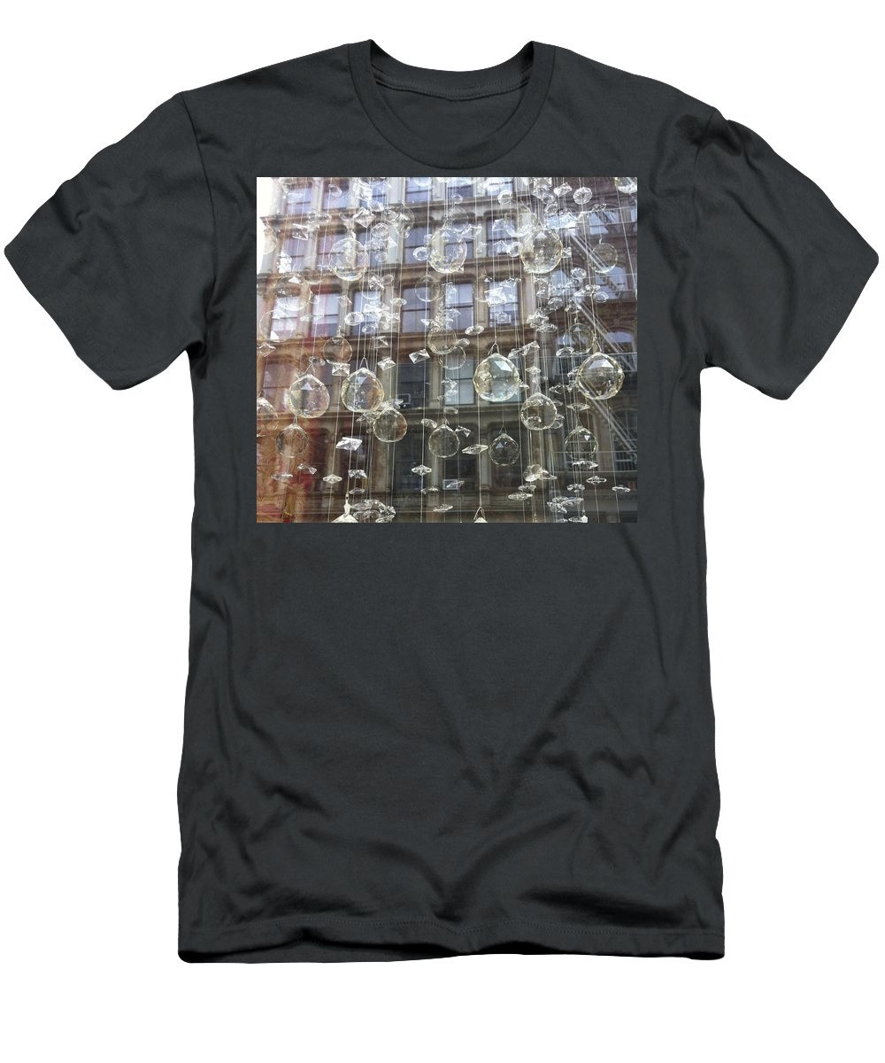 Ornaments Men's T-Shirt (Athletic Fit) featuring the photograph Crystal Ornaments by Hope VanCleaf