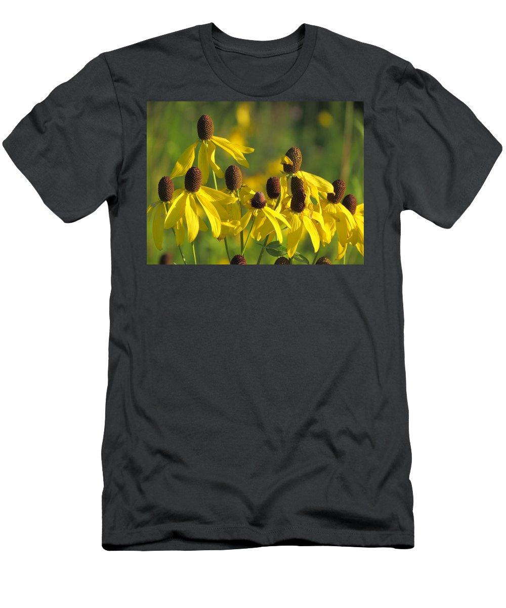 Wildflowers Men's T-Shirt (Athletic Fit) featuring the photograph Dancing Wildflowers by David T Wilkinson