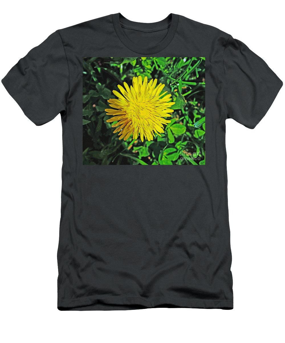 Quincy Illinois Men's T-Shirt (Athletic Fit) featuring the photograph Dandy Lion by Luther Fine Art