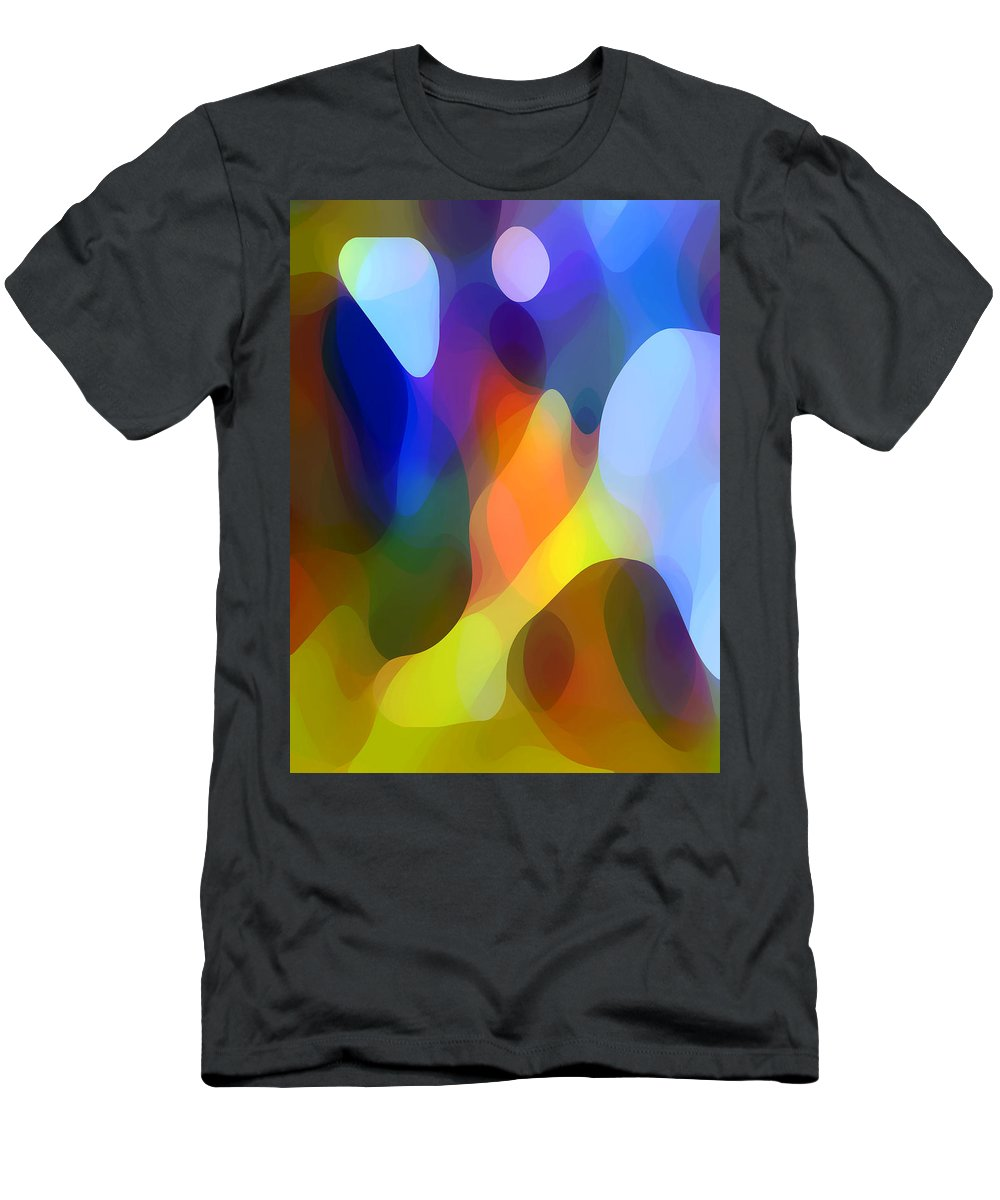 Abstract Art Men's T-Shirt (Athletic Fit) featuring the painting Dappled Light by Amy Vangsgard