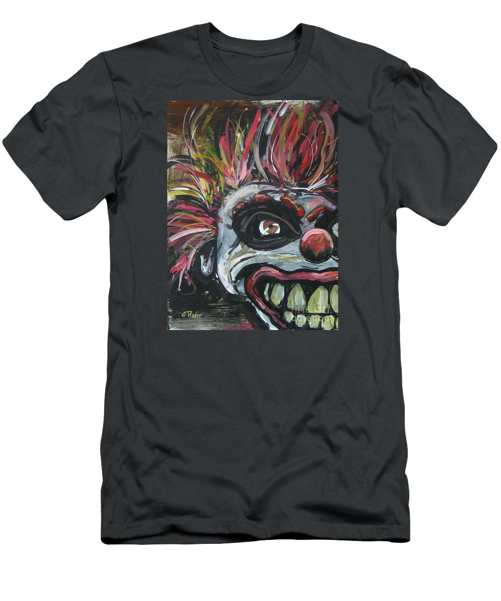 Clown Men's T-Shirt (Athletic Fit) featuring the painting Dark Clown by Gerald Rader