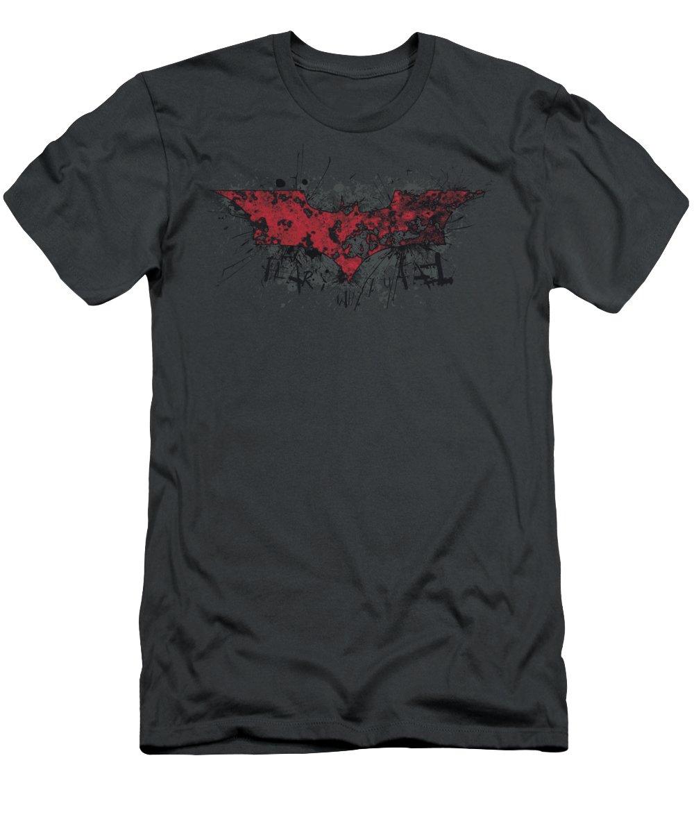Dark Knight Rises T-Shirt featuring the digital art Dark Knight Rises - Fear Logo by Brand A
