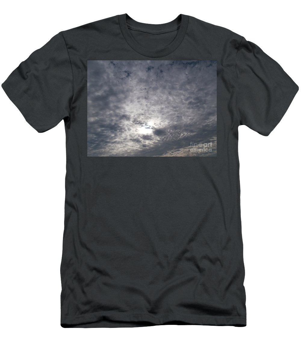 Dramatic Men's T-Shirt (Athletic Fit) featuring the photograph Dark Skyline by Joseph Baril