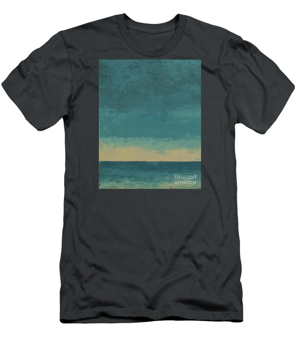 Landscapes Men's T-Shirt (Athletic Fit) featuring the painting Dark Waters by Gail Kent