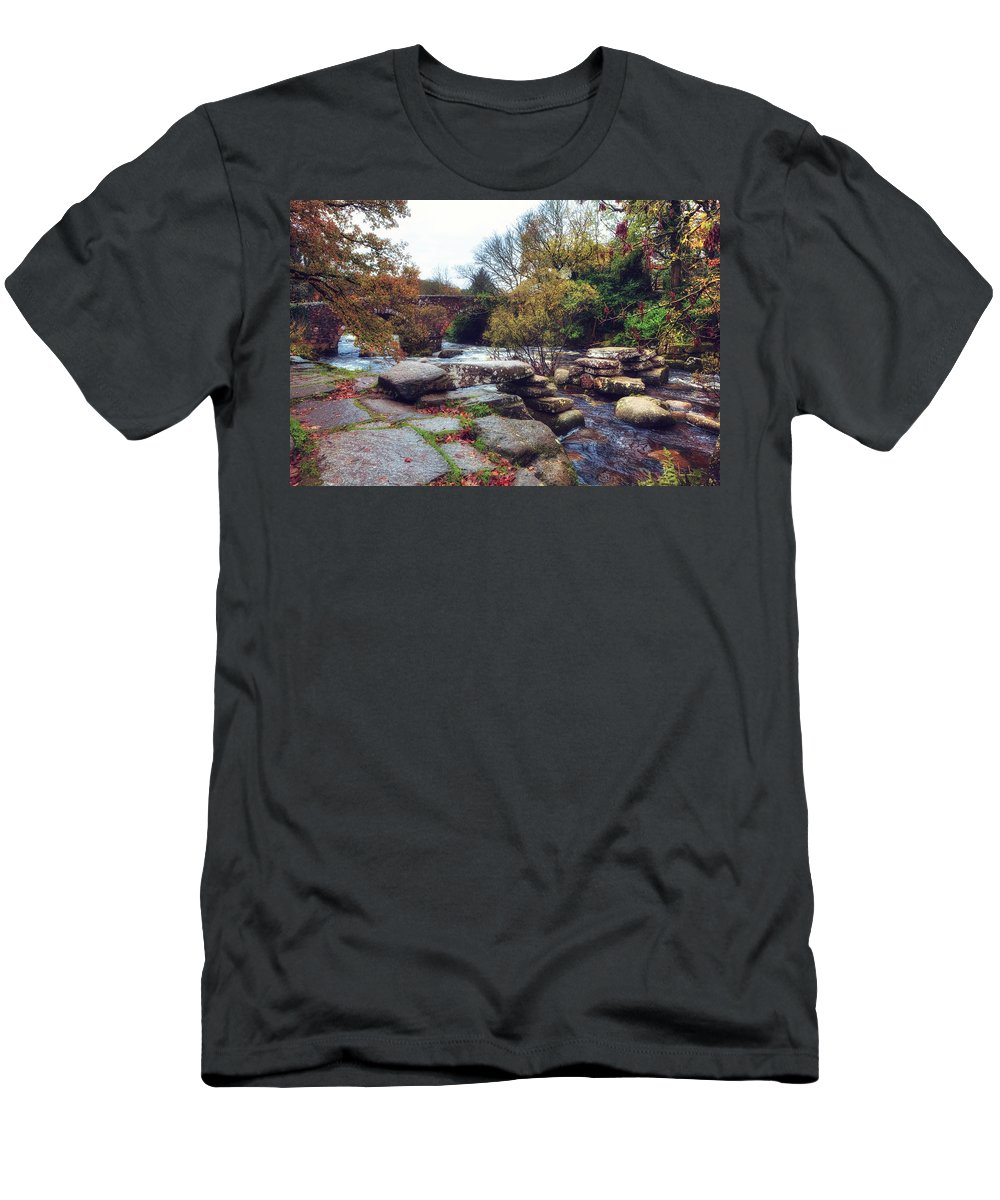 Dartmeet Men's T-Shirt (Athletic Fit) featuring the photograph Dartmeet by Joana Kruse