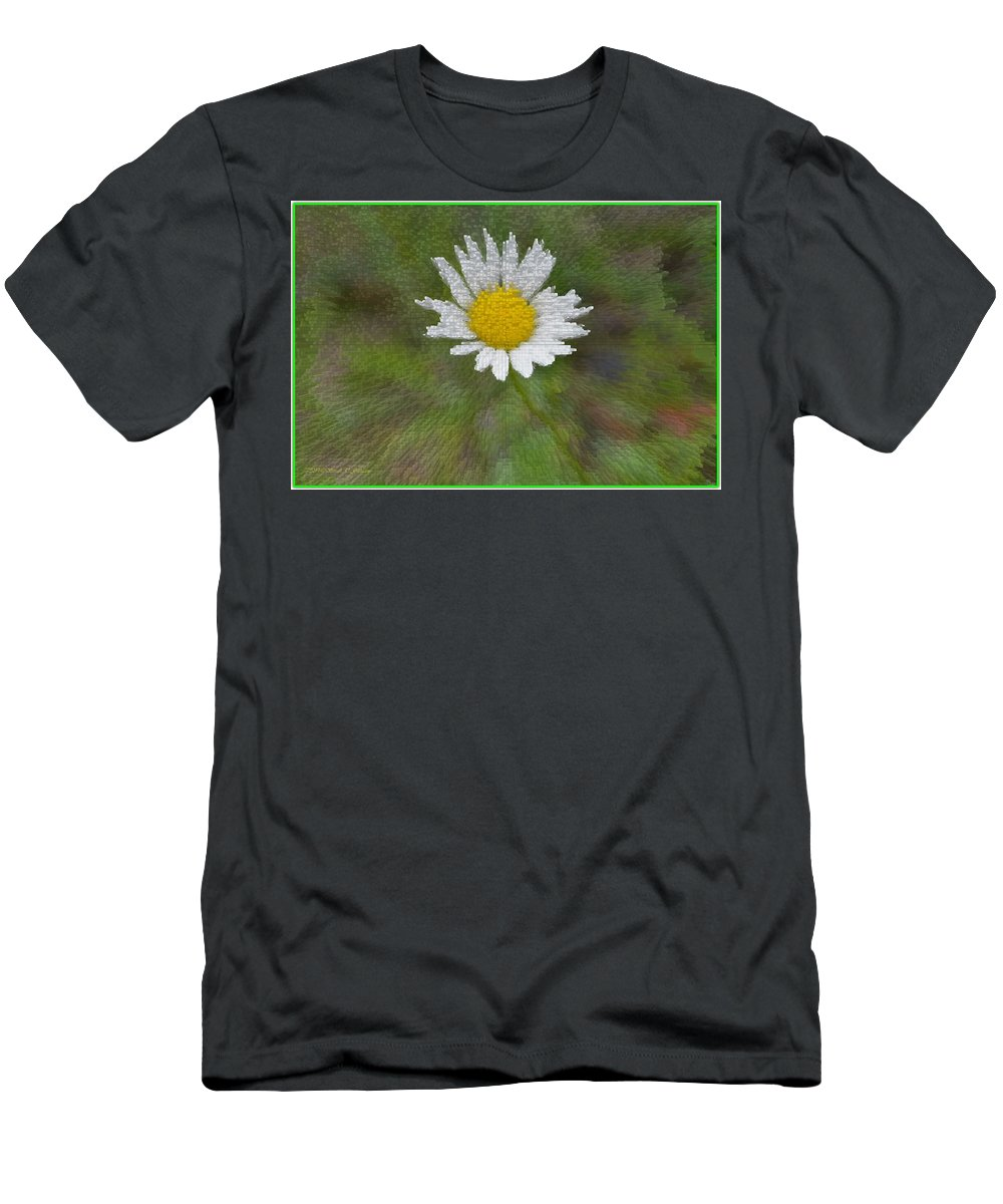Daisy Men's T-Shirt (Athletic Fit) featuring the photograph Days Eye by Sonali Gangane