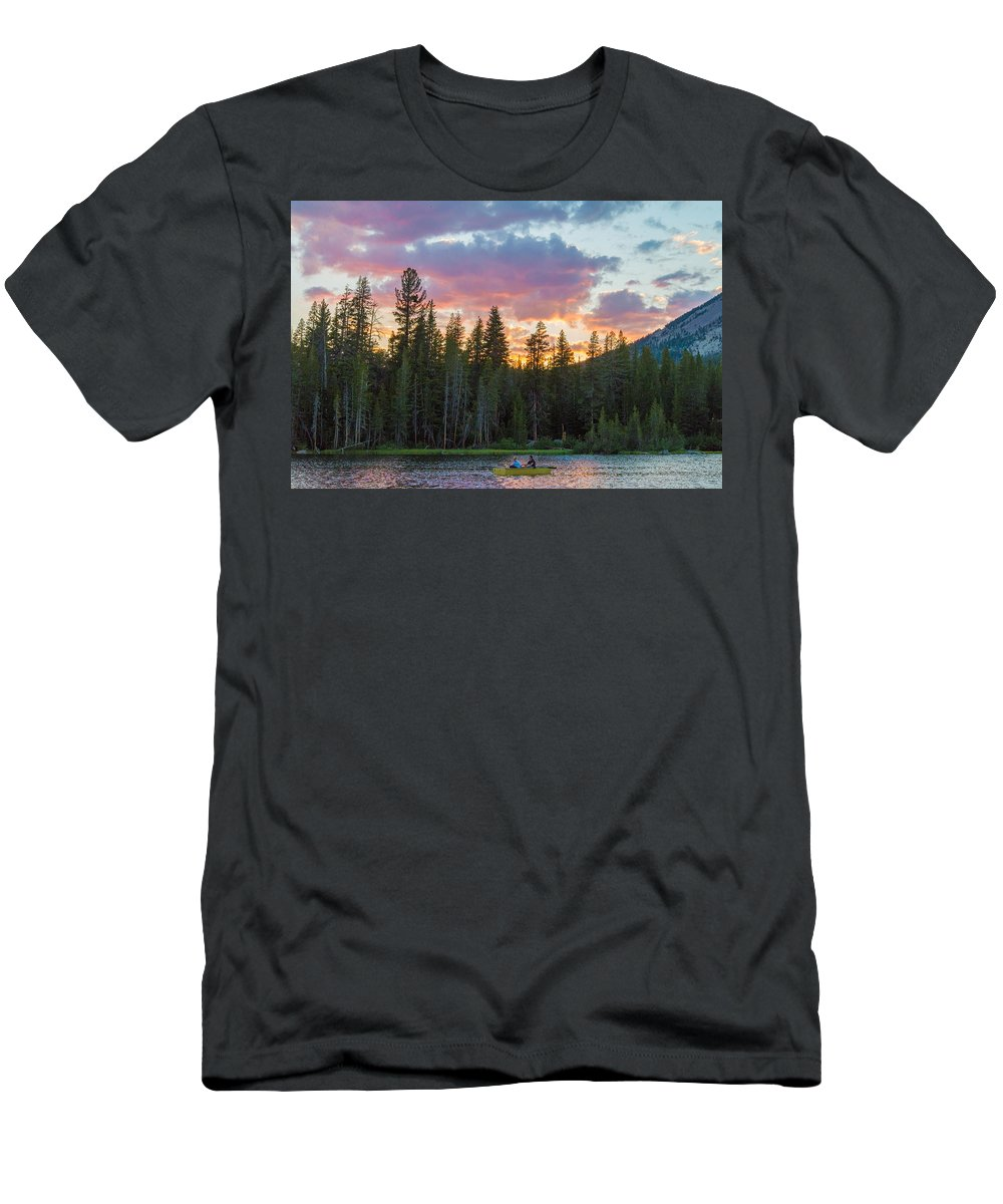 Last Men's T-Shirt (Athletic Fit) featuring the photograph Day's Last Light by Lynn Bauer