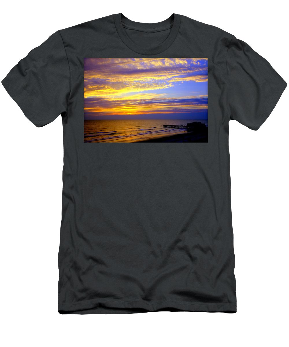 Daytona Men's T-Shirt (Athletic Fit) featuring the photograph Daytona Beach by Karen Wiles