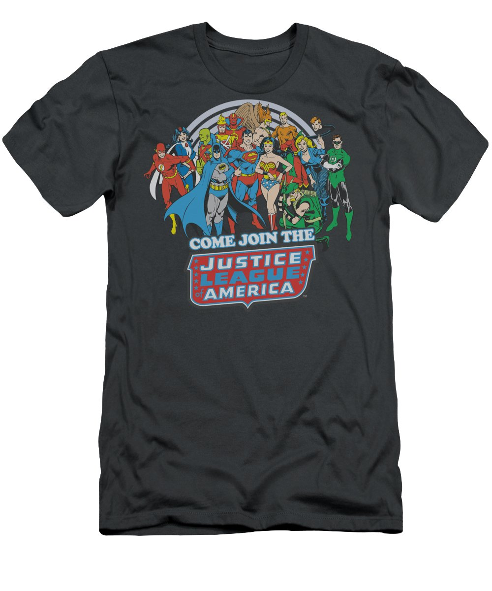 Dc Comics T-Shirt featuring the digital art Dc - Join The Justice League by Brand A