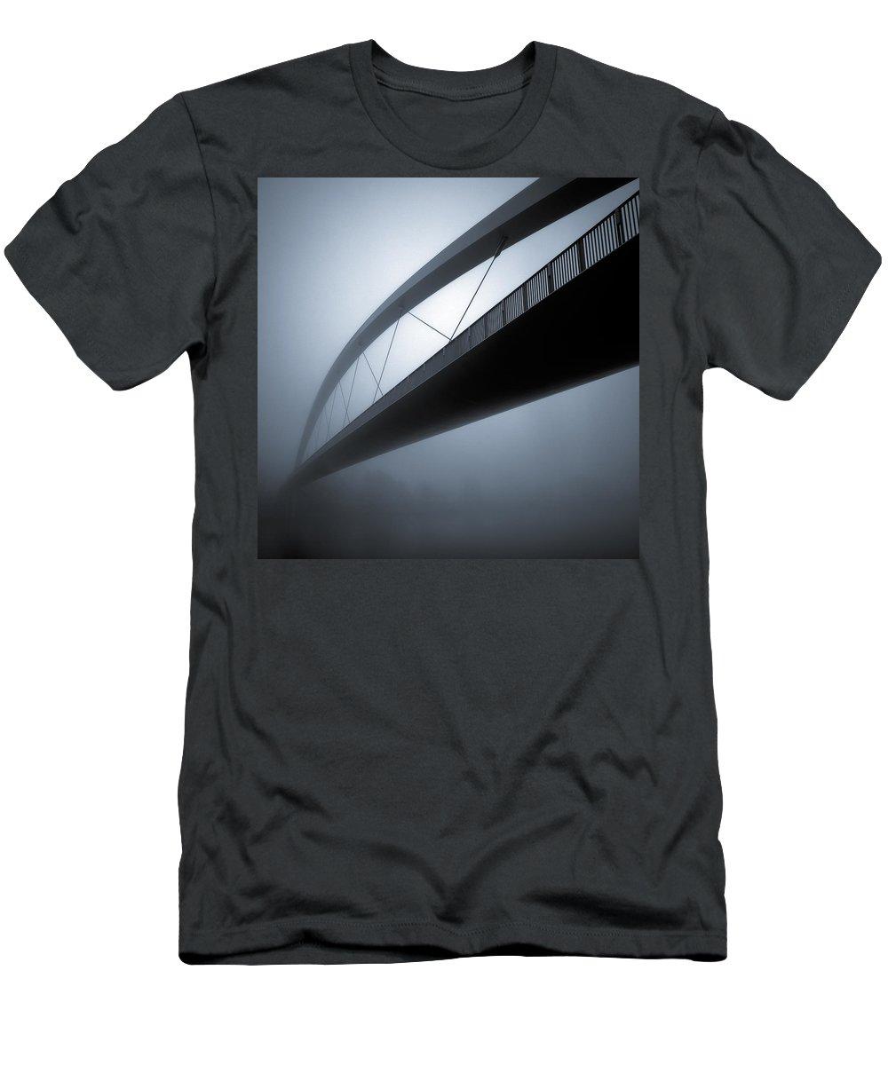 Bridge Abstract Men's T-Shirt (Athletic Fit) featuring the photograph De Hoge Brug by Dave Bowman