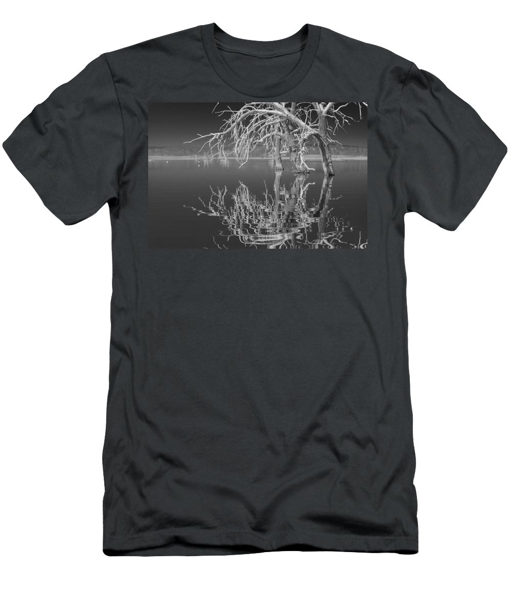 Reflection Men's T-Shirt (Athletic Fit) featuring the photograph Dead Arch Black And White by Scott Campbell