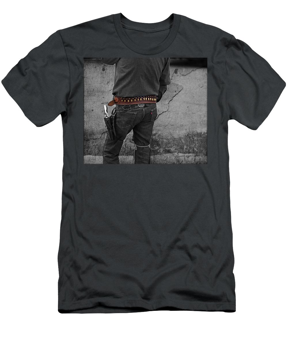 Cowboy Men's T-Shirt (Athletic Fit) featuring the photograph Dead Or Alive by Gunter Nezhoda