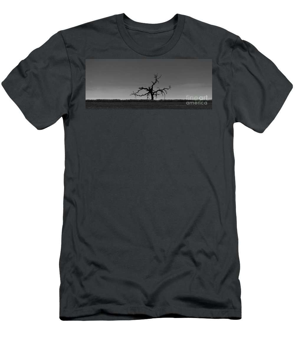 Death Men's T-Shirt (Athletic Fit) featuring the photograph Death Of A Tree by B Christopher
