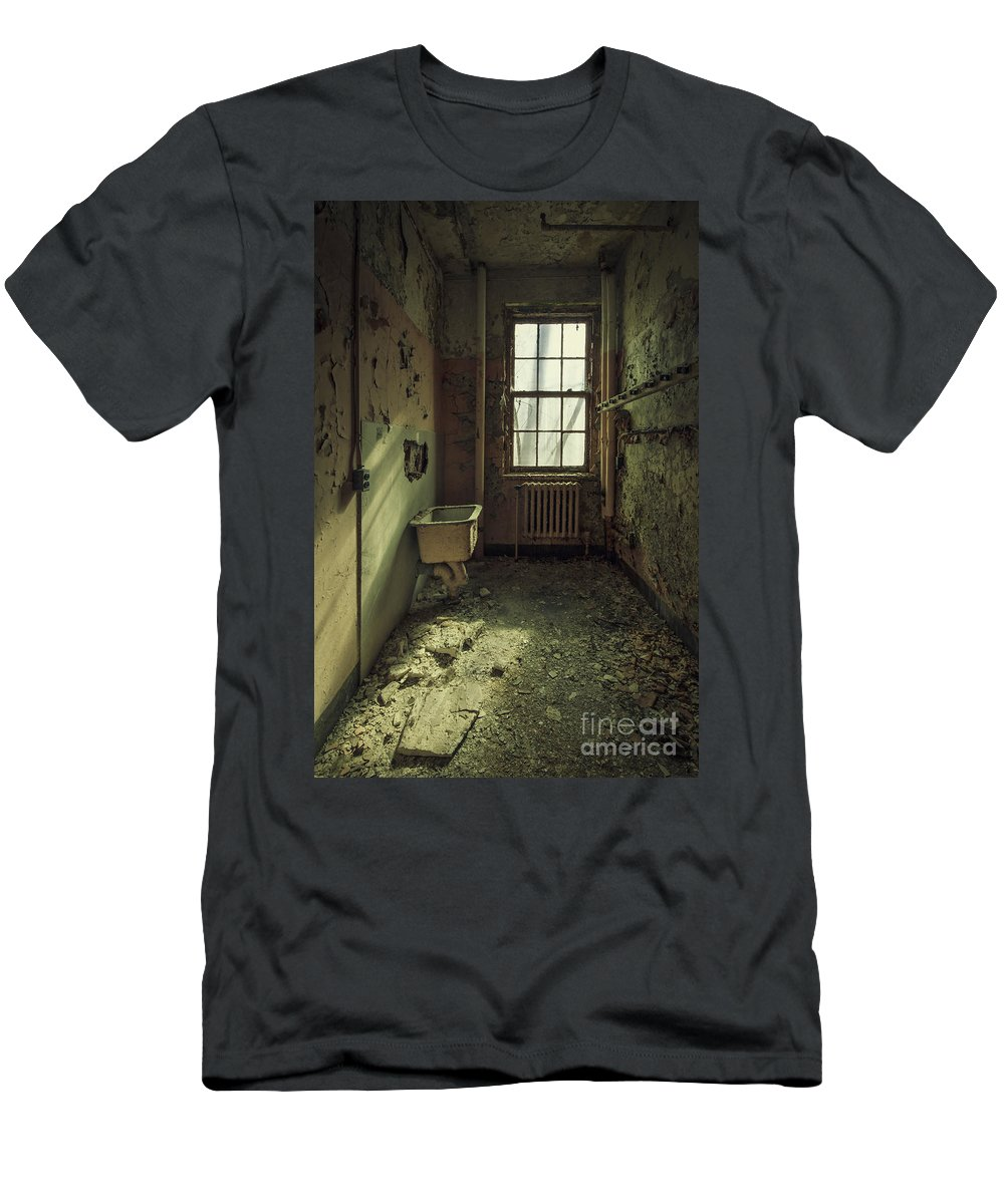 Abandoned Men's T-Shirt (Athletic Fit) featuring the photograph Decade Of Decay by Evelina Kremsdorf