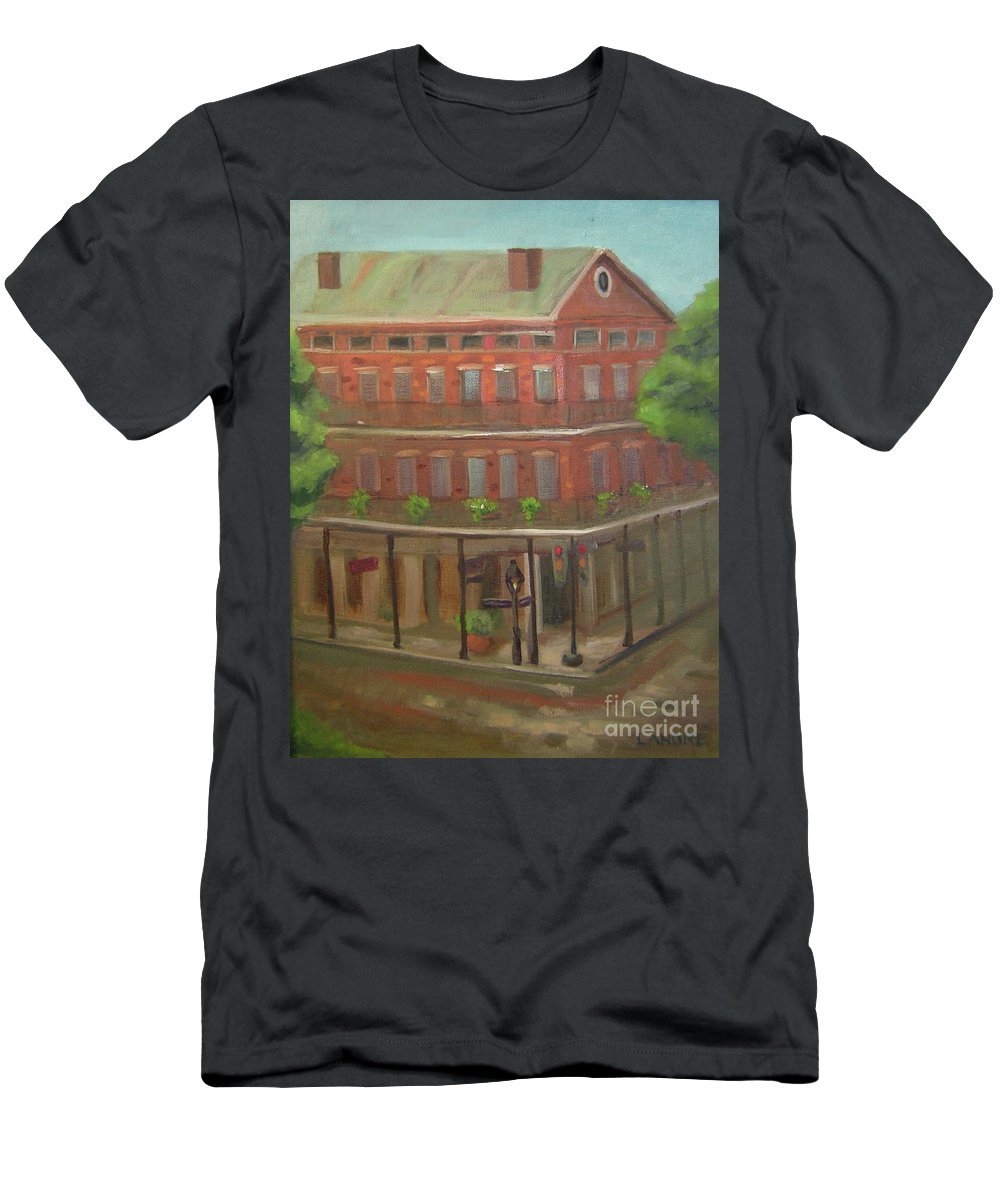 New Orleans Men's T-Shirt (Athletic Fit) featuring the painting Decatur by Lilibeth Andre