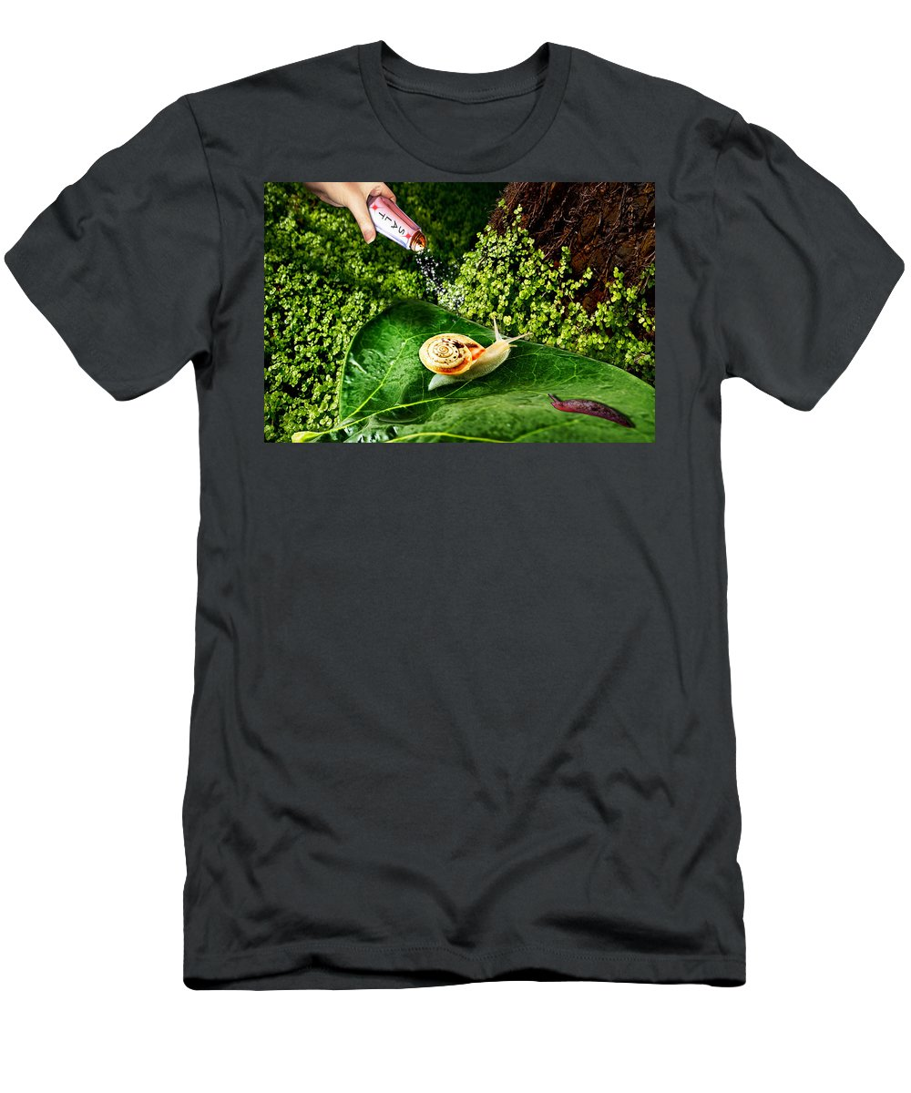 Paula Ayers Men's T-Shirt (Athletic Fit) featuring the digital art Decisions No. 5 by Paula Ayers