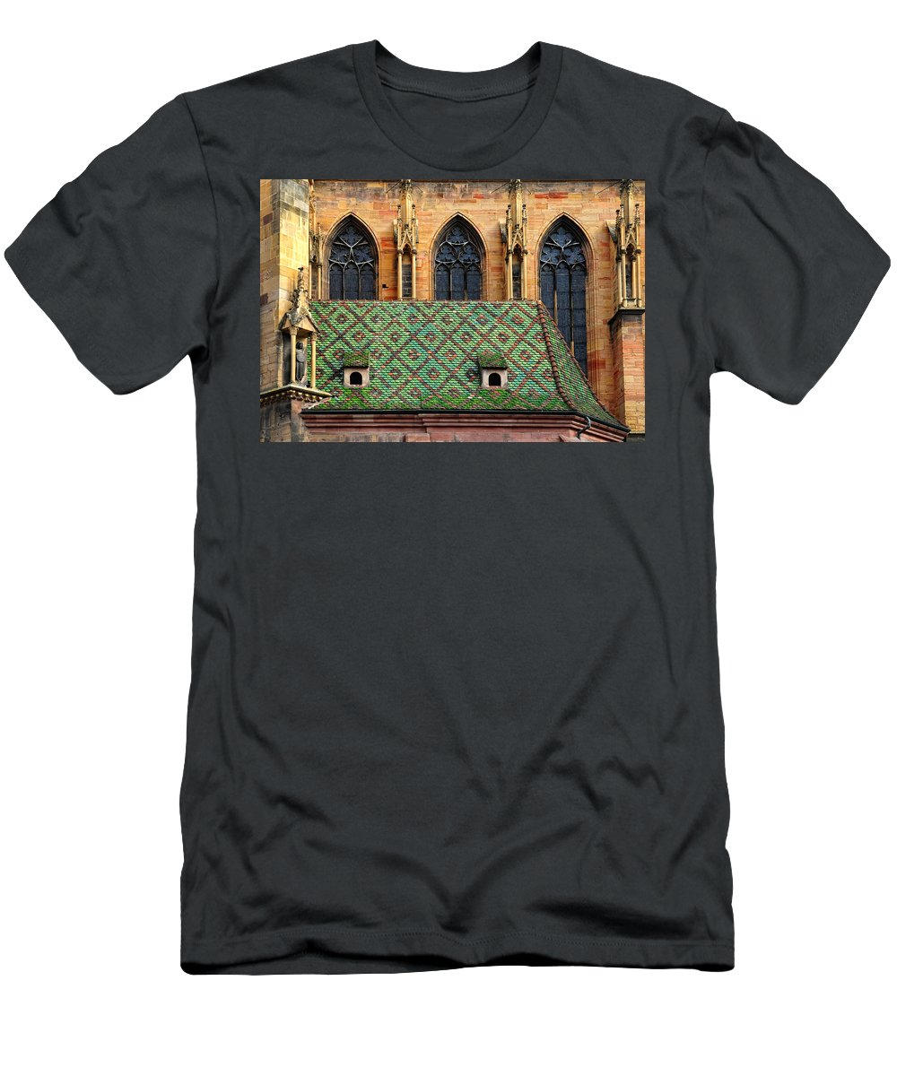 Roof Men's T-Shirt (Athletic Fit) featuring the photograph Decorative Roof by Dave Mills