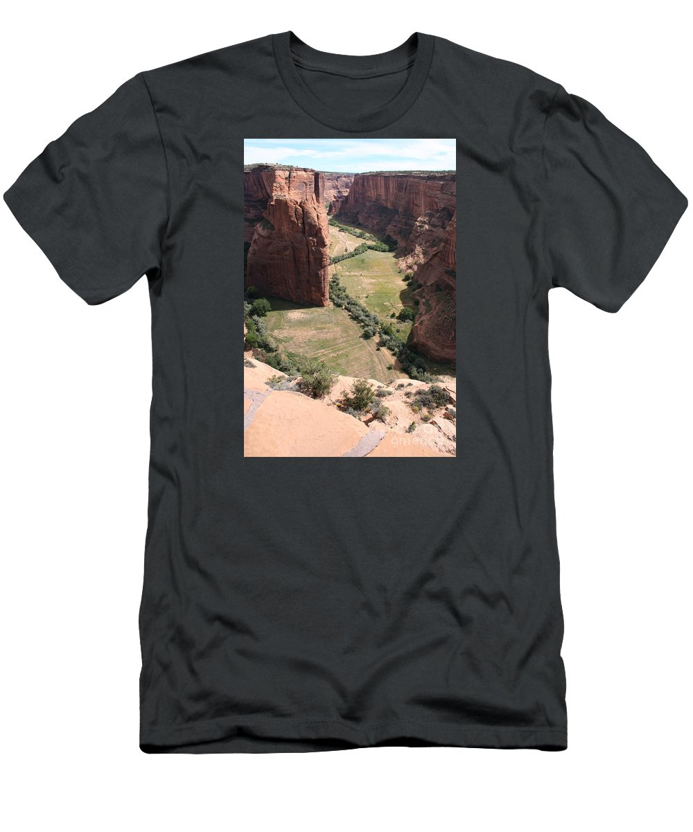 Canyon Men's T-Shirt (Athletic Fit) featuring the photograph Deep Canyon De Chelly by Christiane Schulze Art And Photography